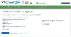 Here is my Withdrawal Proof no 2 from AdClickXpress! I get paid daily and I can withdraw daily. Online income is possible with ACX, who is definitely paying - no scam here. I WORK FROM HOME less than 10 minutes and I manage to cover my LOW SALARY INCOME. If you are a PASSIVE INCOME SEEKER, then AdClickXpress (Ad Click Xpress) is the best ONLINE OPPORTUNITY for you. http://www.adclickxpress.com/?r=ygwymumnh&p=mx