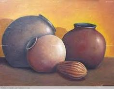 bodegones con vasijas de barro - Buscar con Google Watercolor Pictures, Learn Art, Still Life Art, Fruit Art, Colorful Drawings, Pictures To Paint, Accent Pieces, Painting & Drawing, Ceramic Pottery