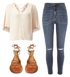 """Sem título #7223"" by ana-sheeran-styles ❤ liked on Polyvore featuring River Island, Miss Selfridge and Aquazzura"