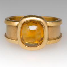 Custom hand made 22k gold citrine ring