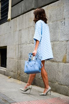 Storets Baby Blue Bubble embossed Dress  #Storets Dresses #Baby Blue Dresses #Bubble Dresses #Embossed Dresses #Dress #Dresses #Where To Bind Bubble Embossed Dresses #Bubble #Dresses #Baby Blue #Lovely Pepa #Chic Outfit #Baby Blue Outfit