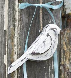 Vintage wooden bird