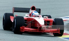 Mika Salo in action in the new Toyota Formula One car during a testing session after its unveiling at the Paul Ricard Circuit, Le Castellet, France. Mandatory Credit: Clive Mason/ALLSPORT