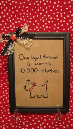 Scotty Dog Hand Stitched Primitive by cottagecozyboutique on Etsy