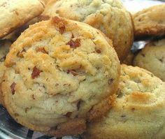 Pecan Sandies: Unsalted butter, vegetable oil, sugar, confectioner's sugar, eggs, vanilla, cream of tartar, salt, pecans,
