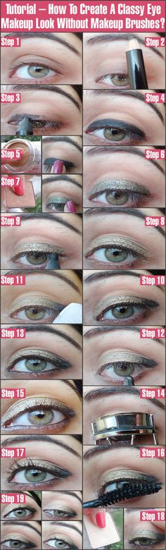 Tutorial – How To Create A Classy Eye Makeup Look Without Makeup Brushes?