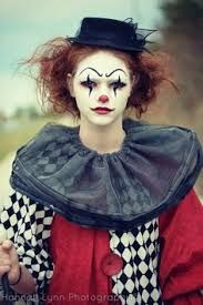 Image result for halloween clown makeup