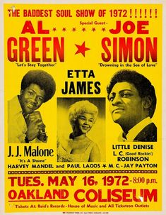 Like A Rolling Stone, Rolling Stones, Let's Stay Together, Al Green, Soul Singers, Soul Music, Special Guest, Back In The Day, Poster