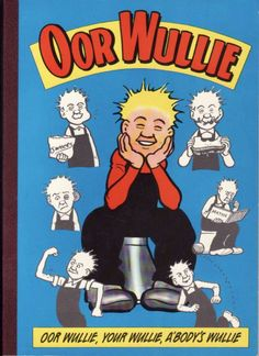 1994 annual, released in 1995. The many faces of Wullie! The front and back covers were the same, so unfortunately there's no poem to name. Oh wait...