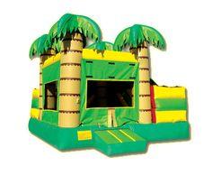 Tropical Combo with a Slide  www.BounceandRebound.com (623) 396-JUMP Bounce House, Water Slide, Inflatable Jumper Rentals |n Phoenix, AZ