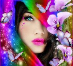 Красочные красоты для Виви (Lamamake) - цветы, красочные, бабочки, красота, CG