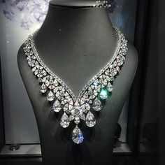 Cartier Diamond Ivresse Necklace by Cartier, of 190.00 carats, c.1960, the cover lot of the Sotheby's sale on Tuesday in Geneva, estimated at $6-10m #Cartier #CartierNecklace #SothebysJewels