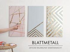 DIY: Keilrahmen mit edlem Blattmetall ähnliche Projekte und Ideen wie im Bild vorgestellt findest du auch in unserem Magazin