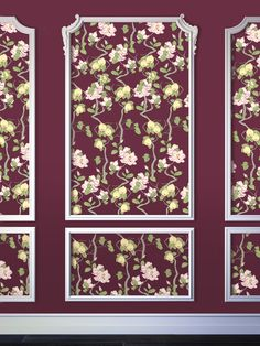 Quince Branches Pattern as wallpaper featured in Modern Chinoiserie.
