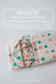 Portable knitting needle and notions pouch
