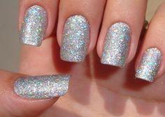32 #Winter designs for #nails with #glitter! #nails #Beauty #silver  #art         Looking beautiful ideas to impress with your manicure into the holidays, but generally this winter? See the wonderful designs for nails with glitter I suggest you!  Surely our nails are in the list, for what things they want anyway grooming for Christmas Day and New Year.
