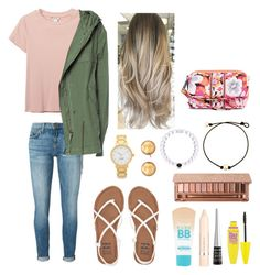 """""""Cute spring day outfit"""" by agrava ❤ liked on Polyvore featuring Monki, Current/Elliott, Billabong, Mr & Mrs Italy, Kate Spade, Carolee, Maybelline, L'Oréal Paris, Wet n Wild and Urban Decay"""