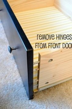 Update a dresser to create a drawer for your printer. | 36 Genius Ways To Hide The Eyesores In Your Home use with dresser in living room for dvd player and printer!