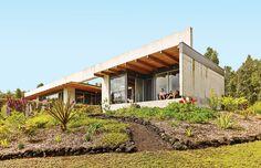 Modern Hawaii House Built on Lava Flow