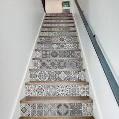 13 Pieces/Set Creative DIY Stairway Stickers Ceramic Tiles Pattern for House Stairs Decoration Large Staircase Wall Sticker(China (Mainland)) Stair Stickers, Floor Stickers, Wall Decor Stickers, Vinyl Decals, Sticker Ideas, Vinyl Art, Wall Decals, Tile Stairs, Basement Stairs