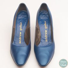 Blue Vintage High Heels by Andrew Geller Size 7 $28