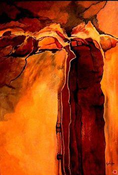 Sacred Ground, 9114 by Carol Nelson Acrylic ~ 36 x 24