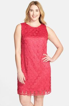 Eliza J Dress Sleeveless Lace Shift Dress (Plus Size) available at #Nordstrom