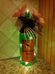 Patty's Heart & Home: Halloween Bottle Night Light