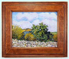 Dry Arroyo. A colorful impressionist landscape painting of a dry arroyo like we find in the New Mexico desert by Robert Price. www.robertpriceart.com