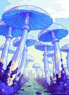 Kunst Inspo, Art Inspo, Art And Illustration, Madara Susanoo, Art Pastel, 8 Bit Art, Mushroom Art, Sunflower Art, Environment Concept Art