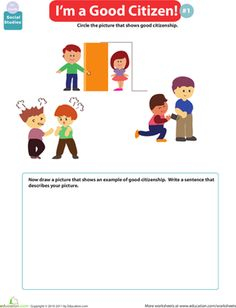 Worksheets: I'm a Good Citizen #2 | Social Studies & Geography ...