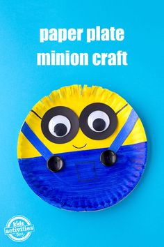 Excited for the Despicable 3 movie? Check out how to make a Minion out of a paper plate. Perfect activity to do with your little one!