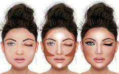 Dicas para afinar o rosto com maquiagem