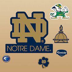 Notre Dame Fighting Irish ND Logo, Fathead