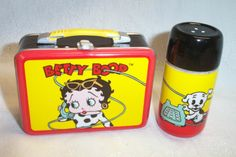 Betty Boop Lunch Tin with Ceramic Salt