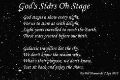 God's Stars On Stage - Spiritual Poetry