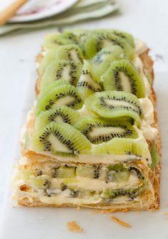 Kiwi & #Mascarpone Mille #Feulle 15 Green Kiwi Desserts | All Yummy #Recipes