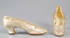 c3fb7d863a1 Wedding slippers Date  ca. 1875 Culture  possibly American Medium  Silk