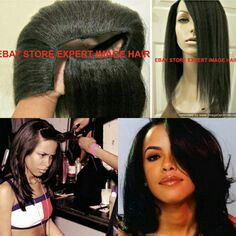 Aaliyah l shaped wig
