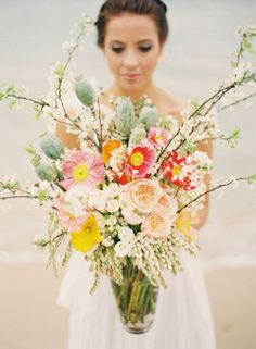 Beautiful wedding bouquet that is perfect for a spring outdoor wedding.