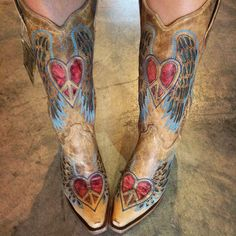 Corral Wing and Heart Cowgirl Boots A1976 at RiverTrailMercantile.com!