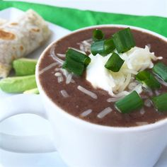 """Black Bean and Salsa Soup   """"This is a fantastic recipe! Now know why there are so many glowing reviews. It's so easy. I was done, from start to finish in 15 minutes."""""""