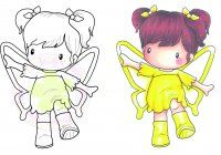 C.C. Designs Swiss Pixie Ima Butterfly Rubber Stamp