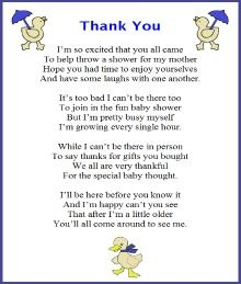 Amazing Thank You Poem From Baby Boy