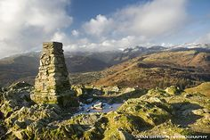 Loughrigg Fell summit, the Lake District, Cumbria -- This was the setting for my first ever Lake District hike! :D