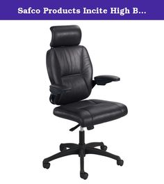 Safco Products Incite High Back Executive Chair, Black, 4470BL. Incite workplace productivity with elegant comfort that will last throughout the day. This beautiful designed executive chair has leather upholstery with padded arms that bring added support to help everyone feel a little more relaxed. The metal accents draw attention, while the leather upholstery lures them in. Incite is available as a high back with headrest or mid back chair. The chair features a swivel seat, pneumatic…