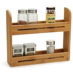 RSVP Bamboo Wood Spice Rack