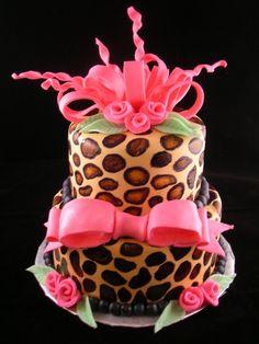 Leopard Pink Cake
