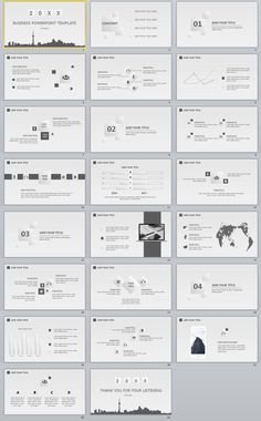 23+ Gray Business slides PowerPoint Templates
