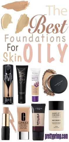 Remedies For Flawless Skin The best matte foundations for all you oily skin girls out there! Matte foundation from the drugstore as well as high end. Oily Skin Makeup, Oily Skin Care, Skin Care Tips, Dry Skin, Drugstore Makeup, Skin Tips, Eyeshadow Makeup, Makeup Brushes, Eyeliner